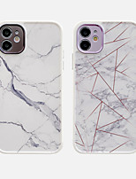 cheap -Case For Apple iPhone 11 Shockproof / Dustproof / Plating Back Cover Marble TPU For Case iphone 11 Pro/11 Pro Max/7/8/7P/8P/SE 2020/X/Xs/Xs MAX/XR