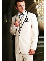 cheap -The Great Gatsby Retro Vintage Medieval Coat Pants Outfits Vest Men's Costume White Vintage Cosplay Party Halloween Long Sleeve