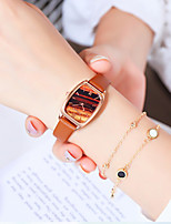 cheap -Women's Quartz Watches Quartz Stylish Casual Casual Watch Analog White Blue Blushing Pink / PU Leather