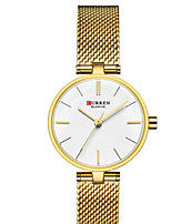 cheap -CURREN Women's Quartz Watches Quartz Formal Style Modern Style Casual Water Resistant / Waterproof Analog Rose Gold Golden+White Silver / One Year / Stainless Steel / Japanese / Shock Resistant