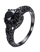 cheap -10kt black gold 8mm round cut diamond halo rings black onyx stone size6/7/8/9/10(10)
