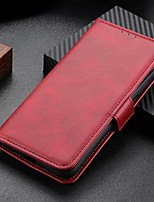 cheap -Case For MOTO E6S (2020) Moto G8 Power Lite Moto Edge Plus Wallet Card Holder with Stand Full Body Cases Solid Colored PU Leather Case For Moto G Power G7 Plus One hyper E6 plus One Vision P40 Power