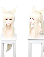 cheap -Cosplay Cosplay Cosplay Wigs Women's Neat Bang 100 inch Heat Resistant Fiber Matte White Adults' Anime Wig