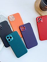 cheap -Case For iPhone 6 6s 7 8 6plus 6splus 7plus 8plus X XR XS XSMax SE(2020) iPhone 11 11Pro 11ProMax Shockproof Ultra-thin Back Cover Solid Colored PU Leather TPU