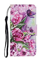 cheap -Case For Samsung Galaxy Note 20 Ultra S20 Plus S10E A11 A21S A31 A41 A51 A71 A01 A10 A20E A30 A40 A50 A70 M31 Wallet Card Holder with Stand Full Body Cases Butterfly Flower PU Leather