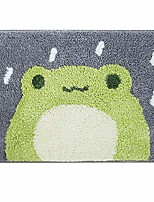 cheap -bath mat cute shower rug, luxury shaggy high absorbent and anti slip, machine washable fit for bathtub, shower and bath room (little frog)