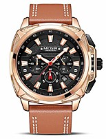 cheap -men's analogue chronograph quartz business watch with leather strap for sport & work (rose gold)