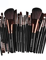 cheap -big sale! professional travel 22pcs cosmetic makeup brush blusher eye shadow brushes set kits & #40;black& #41;