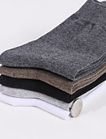 cheap -Men's Warm Socks - Solid Colored White Light gray Dark Gray One-Size