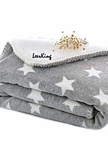 cheap -dog puppy blanket double layer micro fleece plush pet cat warm bed cover cushion mat, 30 x 40 inches, grey, m