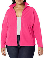 cheap -women& #39;s plus size full-zip polar fleece jacket, pink, 4x