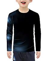 cheap -Kids Boys' Active Basic Geometric 3D Print Long Sleeve Blouse Black