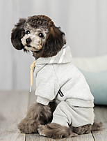 cheap -Dog Hoodie Solid Colored Casual / Sporty Fashion Casual / Daily Winter Dog Clothes Breathable Black Fuchsia Blue Costume Fleece S M L XL XXL