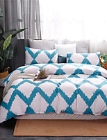 cheap -Blue Wave Pattern Print 3 Pieces Bedding Set Duvet Cover Set Modern Comforter Cover-3 Pieces-Ultra Soft Hypoallergenic Microfiber Include 1 Duvet Cover and 1 or2 Pillowcases