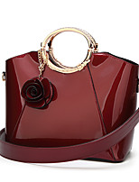 cheap -Women's Bags PU Leather Top Handle Bag Zipper for Daily / Date Wine / Black / Dark Blue