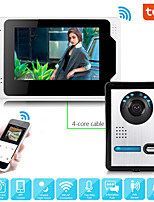 cheap -Wired Video Intercom System With Tuya 7 Inch Video Doorbell Door Phone Wired Video Door Phone HD 1080P Camera Kits Support Unlock Monitoring Dual-way Intercom for Villa Home Office Apartment