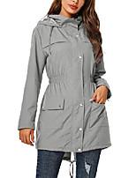 cheap -rain jacket women waterproof with hood outdoor raincoat active lightweight jacket grey,m