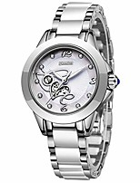 cheap -women's watches fashion casual lightweight analog quartz watch for women waterproof ceramic band simple elegant ladies watch luxury business silver white steel lady bracelet wristwatch