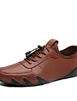 cheap -Men's Spring / Fall Business / Casual / British Daily Office & Career Oxfords Leather Breathable Non-slipping Wear Proof Light Brown / Black / Brown