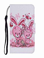 cheap -Case For Samsung Galaxy Note 20 Ultra Samsung Galaxy S20 Ultra  Wallet Card Holder with Stand Full Body Cases Cute Rabbit PU Leather TPU for Samsung Galaxy A71 Note 20 A21S A51 A70 A30 A50 A20S S20