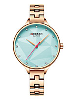 cheap -CURREN Women's Quartz Watches Quartz Formal Style Modern Style Casual Water Resistant / Waterproof Analog Golden+White Blue Gold / One Year / Stainless Steel / Japanese / Shock Resistant