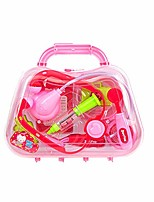 cheap -durable kids doctor kit doctor equipment pretend play doctor tools for toddlers costume doctor role play school classroom educational toy pink 1set