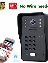 cheap -MOUNTAINONE SY008WF WIFI &Wireless1080P HD IR-CUT Camera RFID Password Video Doorbell Intercom System Night Vision IP65 Waterproof Access Control System
