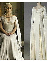 cheap -Game of Thrones Dragon Mother Dress Cosplay Costume Masquerade Women's Movie Cosplay Cosplay Halloween Beige Dress Halloween Carnival Masquerade Polyester