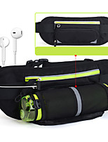 cheap -2 L Hiking Waist Bag Wearable Outdoor Hiking Running Nylon Black Red Fuchsia