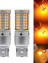cheap -2PCS auto led CANBUS p21w py21w W21W T20 LED 7440 S25 1156 BA15S BAU15S Bulbs 3030 69SMD car Turn Signal Lights Amber