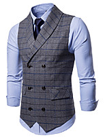 cheap -The Great Gatsby Retro Vintage Medieval Vest Men's Cotton Costume Gray Vintage Cosplay Party Daily Sleeveless