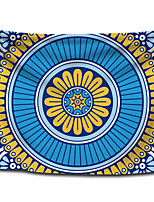cheap -Wall Tapestry Art Decor Blanket Curtain Picnic Tablecloth Hanging Home Bedroom Living Room Dorm Decoration Polyester Sky Blue Colorful Bohemia Mandala View