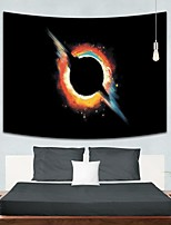 cheap -Wall Tapestry Art Decor Blanket Curtain Picnic Tablecloth Hanging Home Bedroom Living Room Dorm Decoration Polyester Black Hole