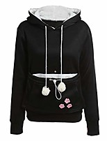cheap -cat lovers hoodies with cuddle pouch dog pet hoodies for casual kangaroo pullovers with ears,black,l