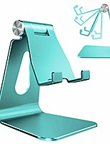 cheap -adjustable cell phone stand,  phone stand, cradle, dock, holder, aluminum desktop stand compatible with iphone xs max xr 8 7 6 6s plus 5s charging, accessories desk,all smart phone-mint green