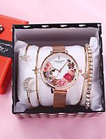 cheap -Women's Quartz Watches Quartz Modern Style Stylish Flower Chronograph Analog Blue Red