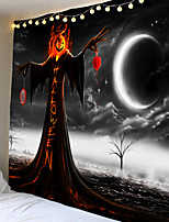 cheap -Halloween Party Holiday Wall Tapestry Art Decor Blanket Curtain Picnic Tablecloth Hanging Home Bedroom Living Room Dorm Decoration Psychedelic Skull Skeleton Grim Reaper Pumpkin Polyester