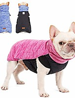 cheap -dog jacket winter coats reversible dog clothes with harness hole for small/medium/large dogs