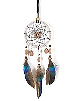cheap -dream catcher handmade car interior rearview mirror dangle (brown)