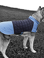 cheap -Dog Jacket Vest Color Block Casual / Sporty Fashion Casual / Daily Winter Dog Clothes Breathable Blue Green Gray Costume Waterproof Material XXXXXL XXXXXXL 7XL 8XL