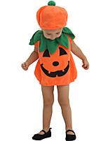 cheap -Pumpkin Cosplay Costume Party Costume Adults' Boys' Cosplay Halloween Halloween Festival / Holiday Polyester Orange Easy Carnival Costumes / Leotard / Onesie / Hat / Leotard / Onesie / Hat