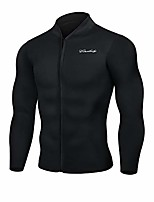 cheap -men's best neoprene wetsuit jacket front zipper long sleeves workout tank top for swimming snorkeling surfing (black, 3xl)