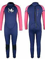 cheap -kids wetsuits thermal swimsuit, 2mm neoprene back zip keep warm for boys girls toddler youth swimming,diving,surfing (navy/pink, 4)