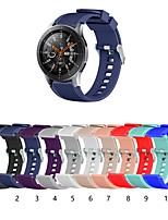 cheap -Watch Band for Samsung Galaxy Watch 46mm Samsung Galaxy Classic Buckle Silicone Wrist Strap