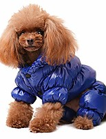 cheap -winter puppy dog coats for small dogs,cute warm fleece padded pet clothes apparel clothing for chihuahua poodles french bulldog pomeranian blue chest:11.5''