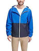 cheap -men's hooded waterproof rain jacket, galaxy blue/navy, large