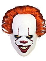 cheap -Joker Mask Halloween Props Adults' Men's Cosplay Halloween Halloween Festival / Holiday Latex Red / Yellow / Orange Men's Women's Easy Carnival Costumes
