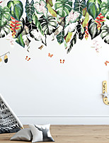 cheap -WallDecals Decor Vinyl DIY Green Tree Leaves and Floral Wall Stickers Removable Waterproof Wallpaper Decals Art Easy Peel & Stick for Kids Room Living Room Bedroom