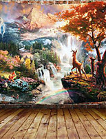 cheap -Wall Tapestry Art Decor Blanket Curtain Picnic Tablecloth Hanging Home Bedroom Living Room Dorm Decoration Polyester Maple Fawn Wonderland Beauty View