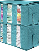 cheap -foldable storage bag organizers, 3 sections, great for clothes, blankets, closets, bedrooms, and more, 2-pack (gray)(the organizer bags,2-pack 3 sections)